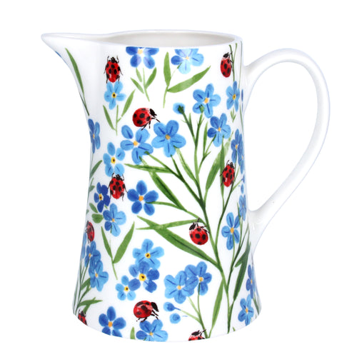Forget Me Not and Ladybird Jug by Gisela Graham