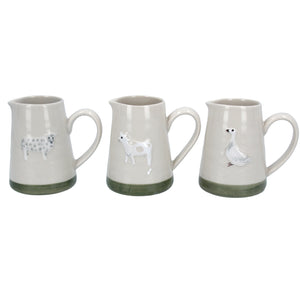Farmyard animal mini jugs set of 3