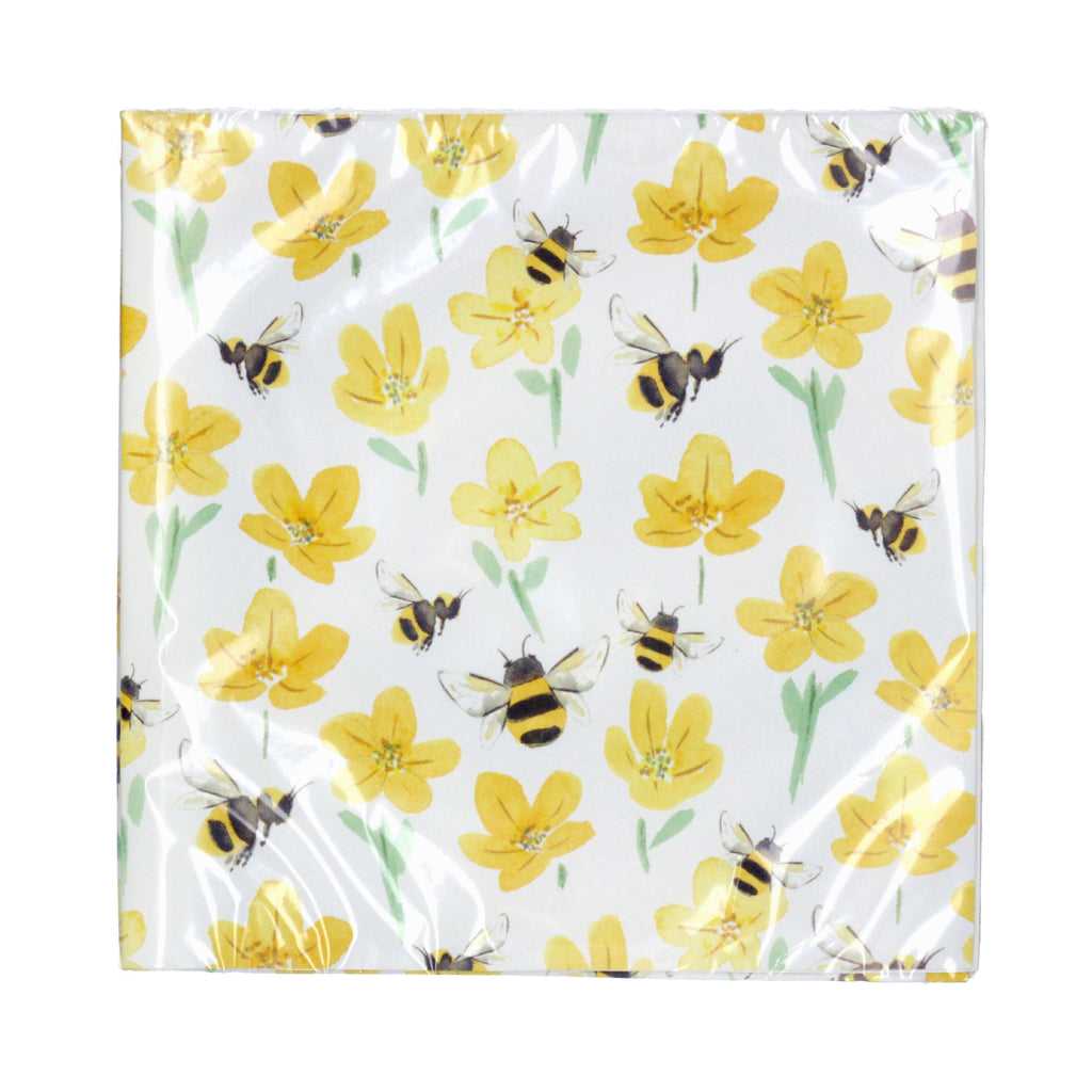 Buttercup and bee paper napkins - La Di Da Interiors