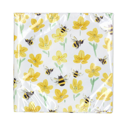 Buttercup and bee paper napkins