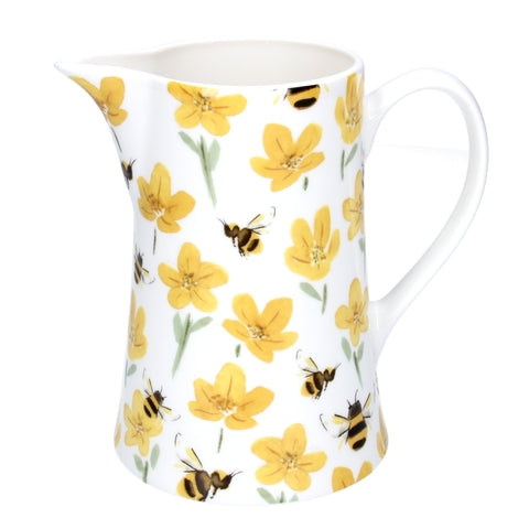Buttercup and Bee Ceramic Jug
