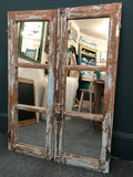 Pair of Antique French Windows Upcycled Mirror SOLD