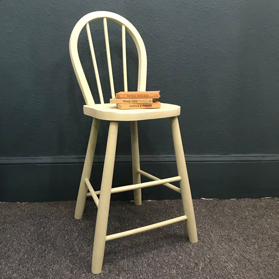 Child's Chair Painted In Lem Lem Green SOLD - La Di Da Interiors
