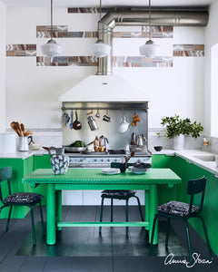 Antibes Green Kitchen Cabinets