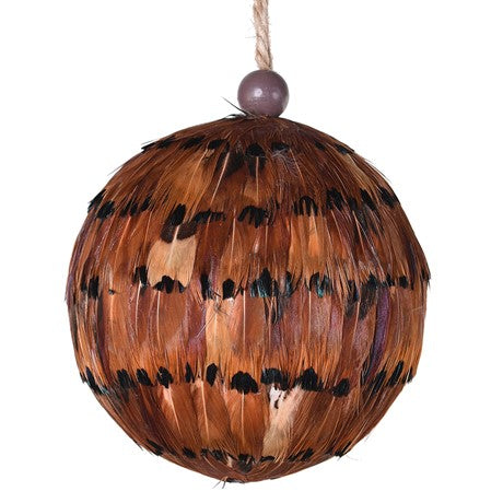 Brown Feather Christmas Tree Decoration