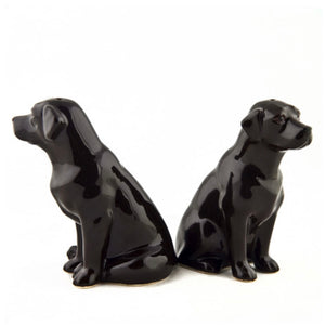 Chocolate Labrador Salt & Pepper Pots