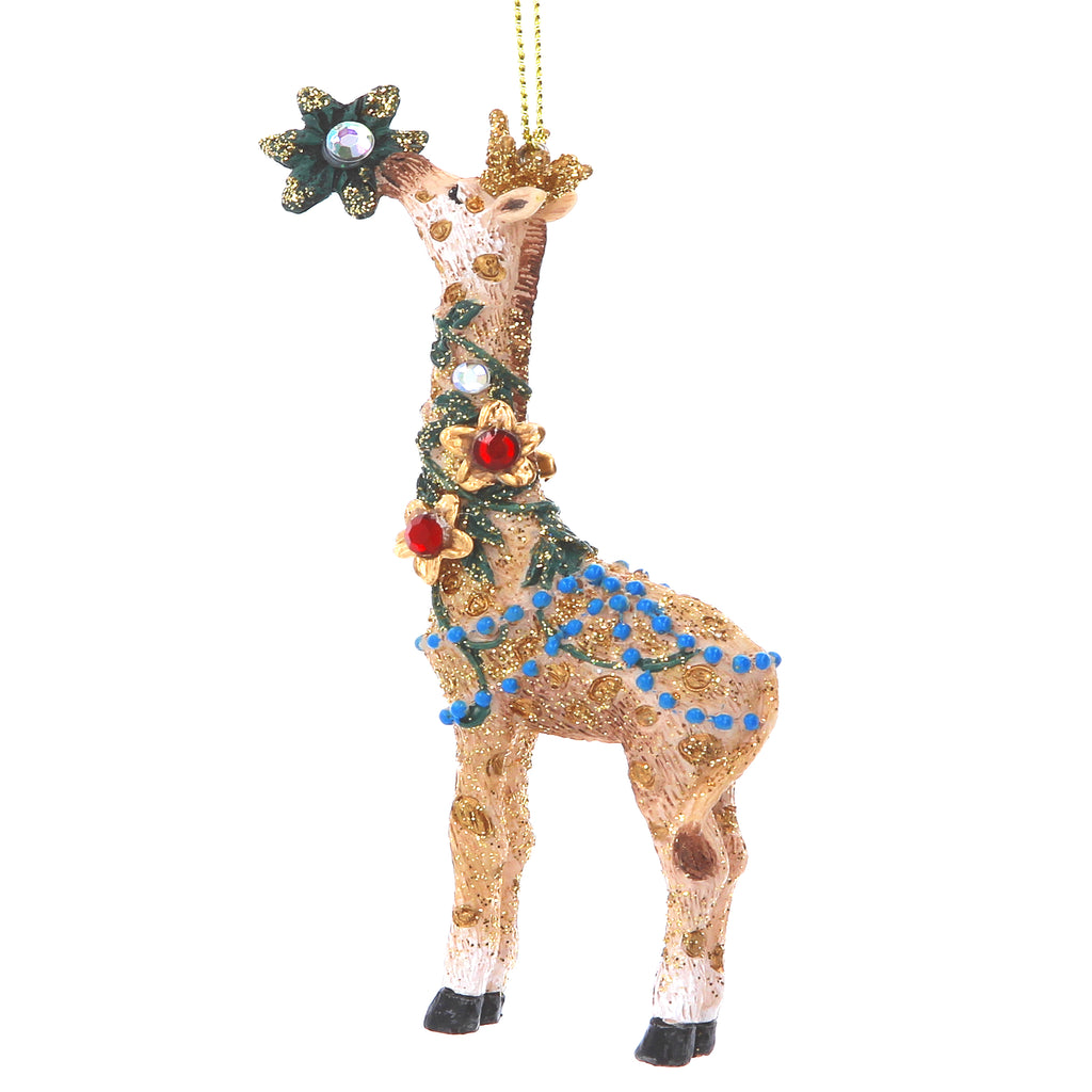 Jewelled Giraffe Christmas Tree Decoration - La Di Da Interiors