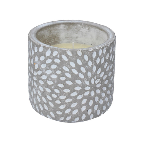 Citronella Concrete Candle Pot