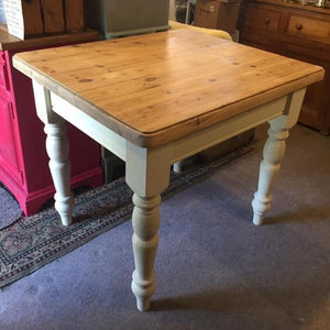 SOLD Margo - Country Farmhouse Style Table painted in Old Ochre - La Di Da Interiors