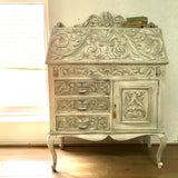 Heritage - carved oak painted bureau