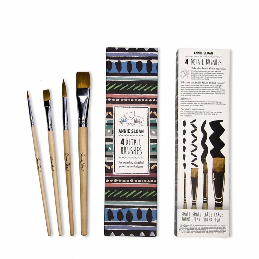 Annie Sloan Detail Brush Set Of Four - La Di Da Interiors