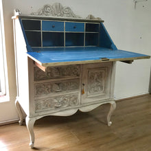 Load image into Gallery viewer, Heritage - carved oak painted bureau SOLD - La Di Da Interiors