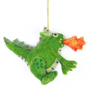 Handmade Puff the Dragon Felt Tree Decoration