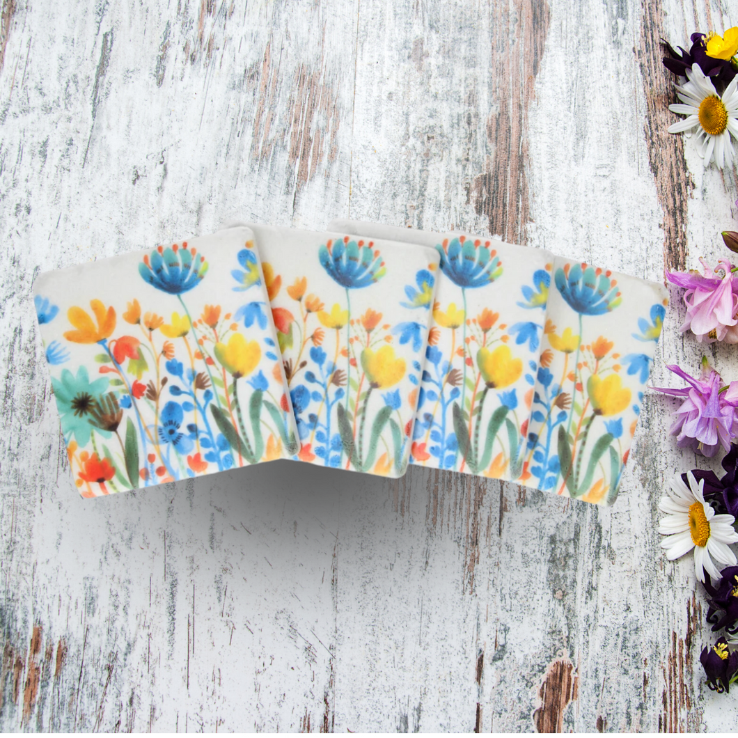 Summer Meadow Floral Coasters