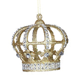 Crown with Jewels Christmas Tree Decoration in Silver or Gold - La Di Da Interiors