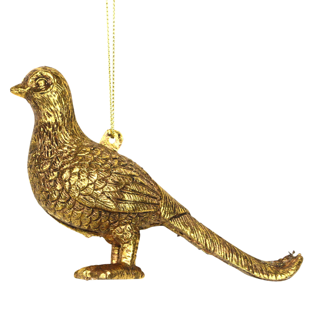 Gold Pheasant Christmas Tree Decoration - La Di Da Interiors