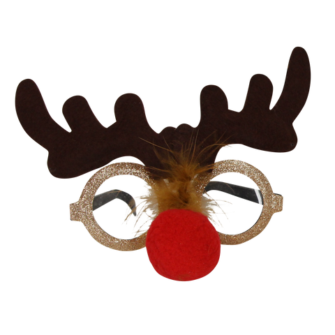 Festive Rudolph Christmas Party Glasses