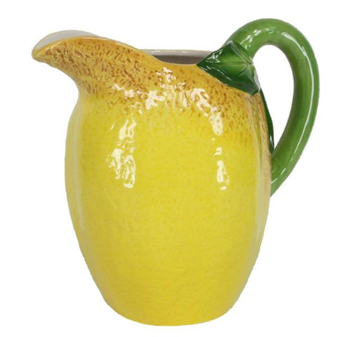 Large Lemon Ceramic Jug by Gisela Graham