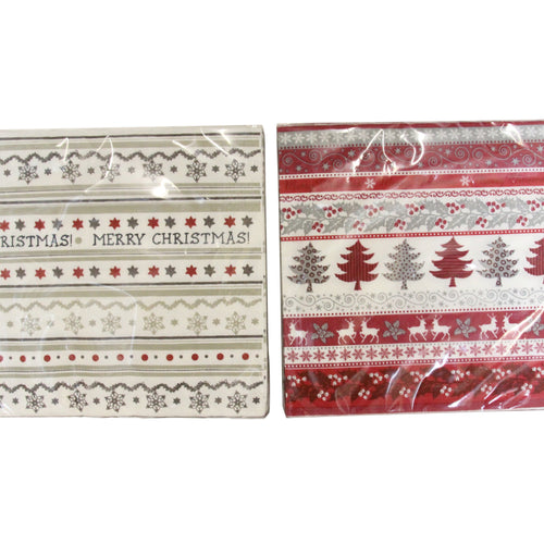 Christmas Paper Napkins by Gisela Graham