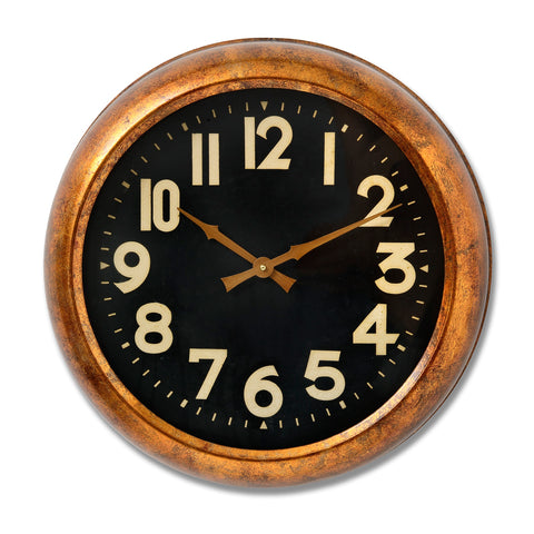 Gold Wall Clock Retro Style