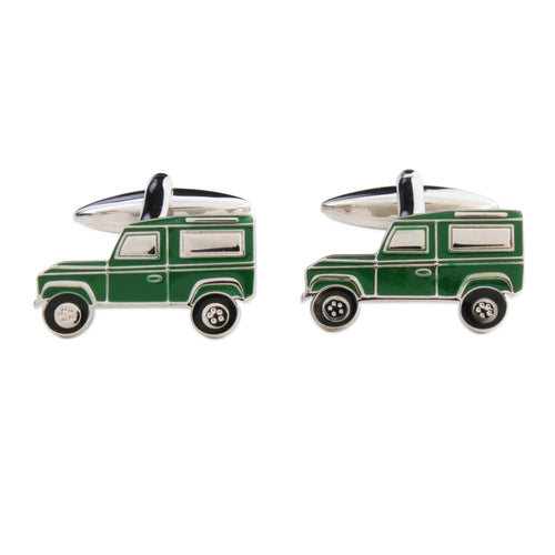 Green Land Rover Cufflinks - La Di Da Interiors