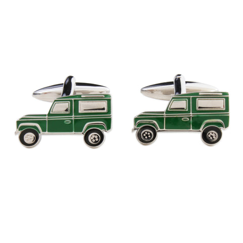 Green Land Rover Cufflinks