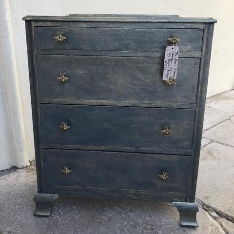 The Bee's Knees Chest of Drawers with Golden Bumble Bees SOLD