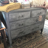Victoria Grey Crackled Chest of Drawers SOLD - La Di Da Interiors