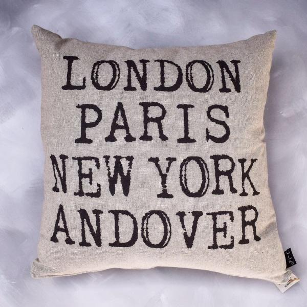 London Paris New York Andover cushion with pad