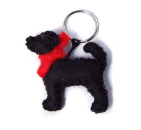 Black Labrador Key ring