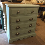 """Sophia"" in Annie Sloan Duck Egg Small Chest Of Drawers SOLD - La Di Da Interiors"
