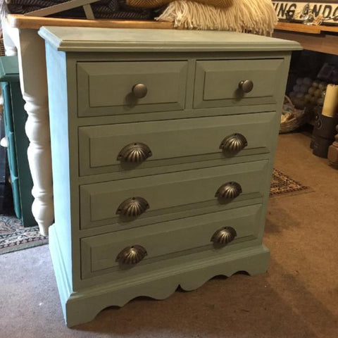 """Sophia"" in Annie Sloan Duck Egg Small Chest Of Drawers SOLD"