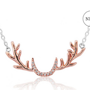 Stag Antler Necklace with sparkles - La Di Da Interiors