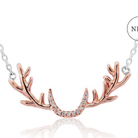 Stag Antler Necklace with sparkles
