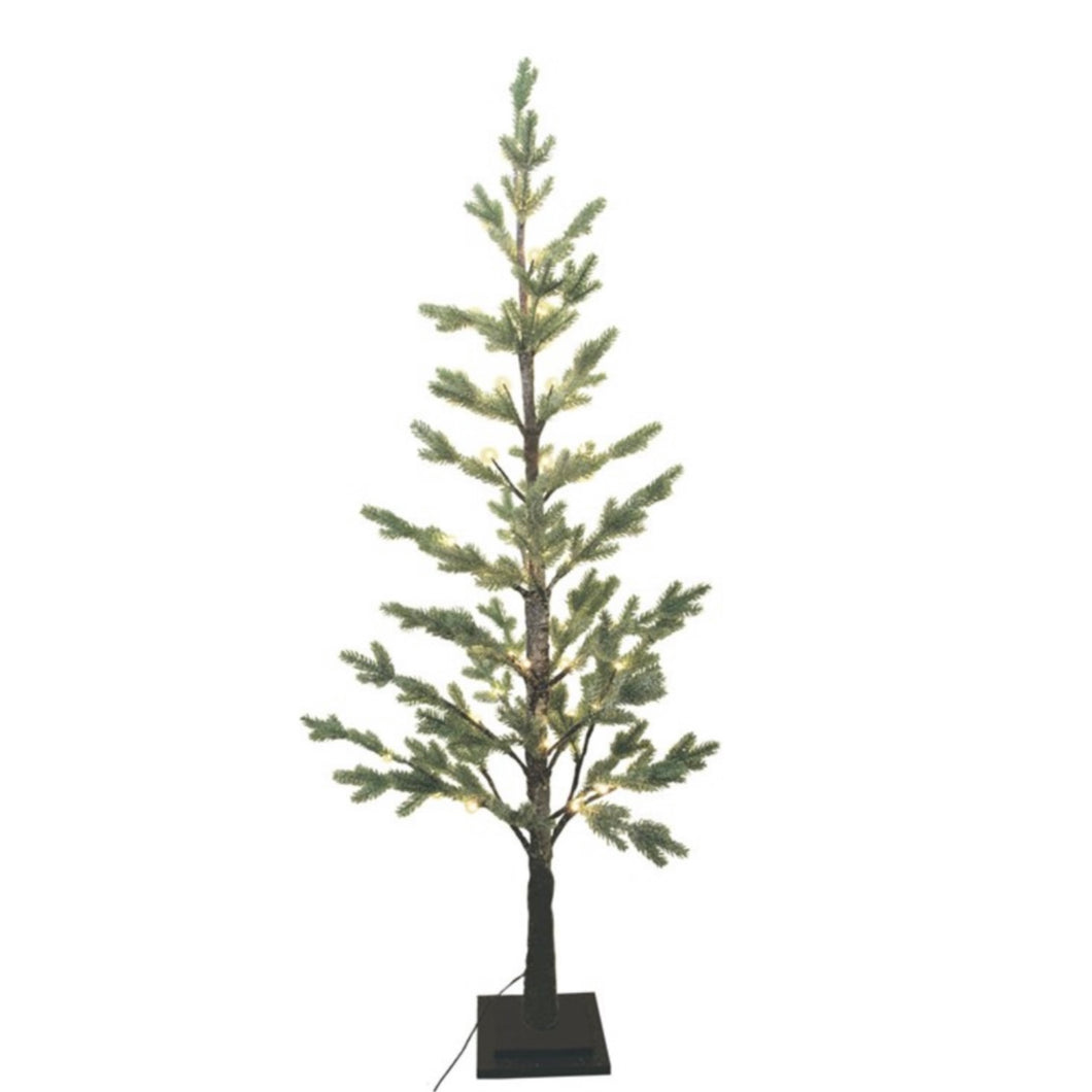 Frosted Fir Christmas Tree With Lights 1m