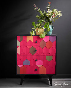 Capri Pink Chest of Drawers by Annie Sloan