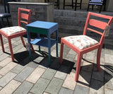 Flamingo Chairs Painted in Scandinavian Pink chalk paint