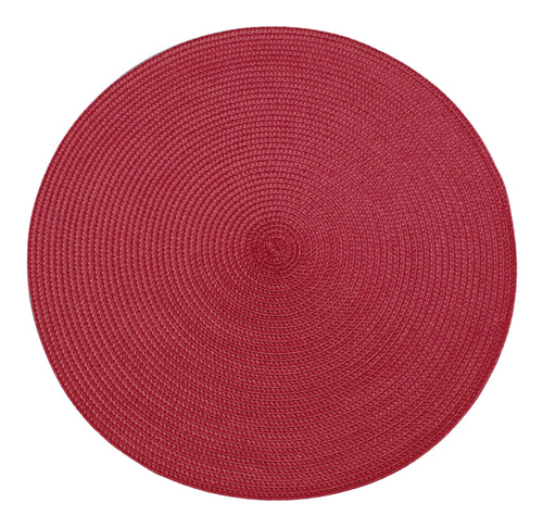 Red placemat round