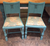 Chairs upcycled by La Di Da Andover, Hampshire