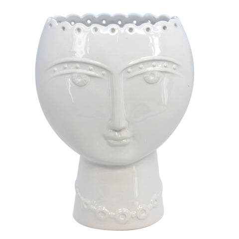 White Face Vase Gisela Graham