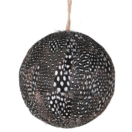 Spotty Guinea Fowl Feather Large Bauble