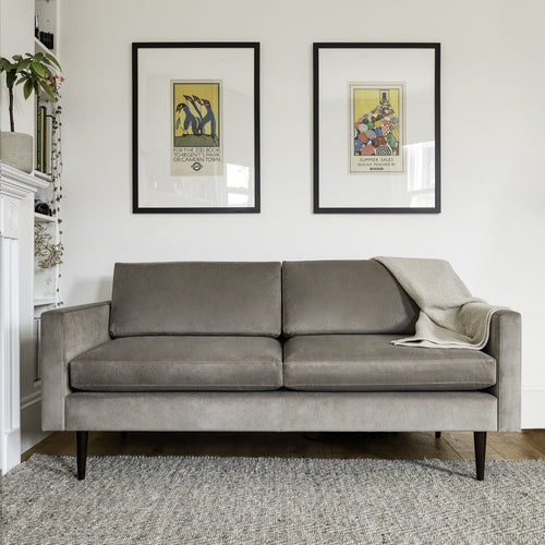 Swyft Model 01 Sofa in Elephant Grey Velvet
