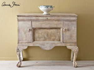 Old White with Dark Wax Painted Sideboard
