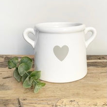 Load image into Gallery viewer, White scandi heart vase mini