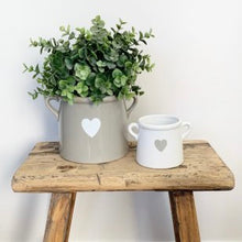 Load image into Gallery viewer, Scandi White Heart Vase with Handles Mini