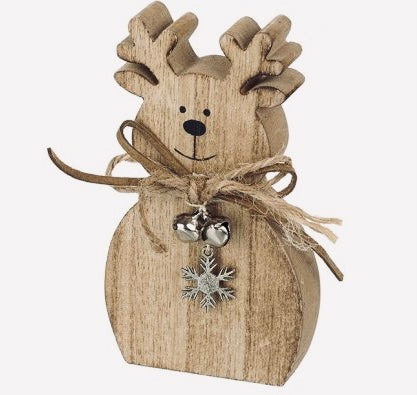 Mini wooden reindeer decoration