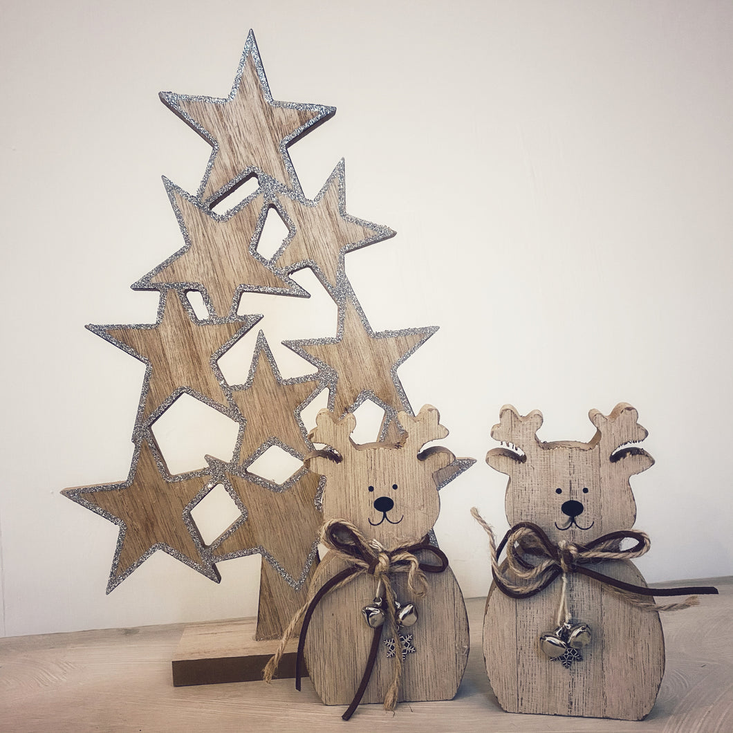 Wooden Star Christmas Tree