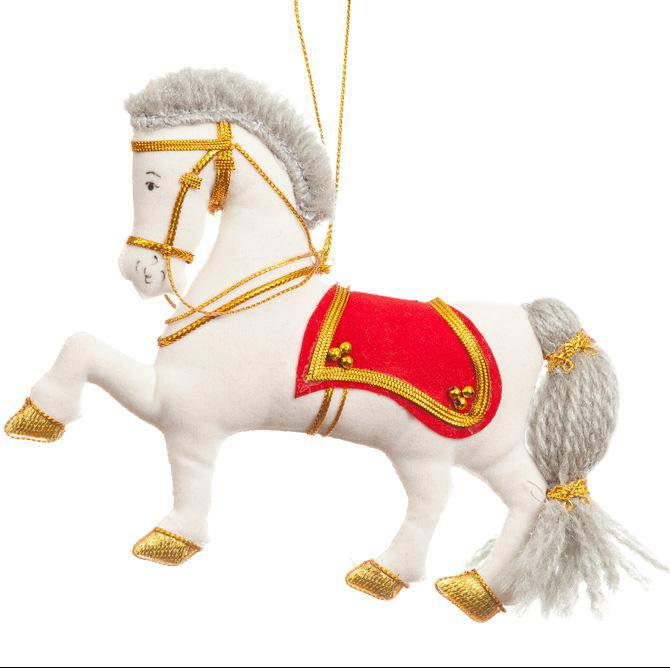 Napoleonic Grey Cavalry Horse Decoration