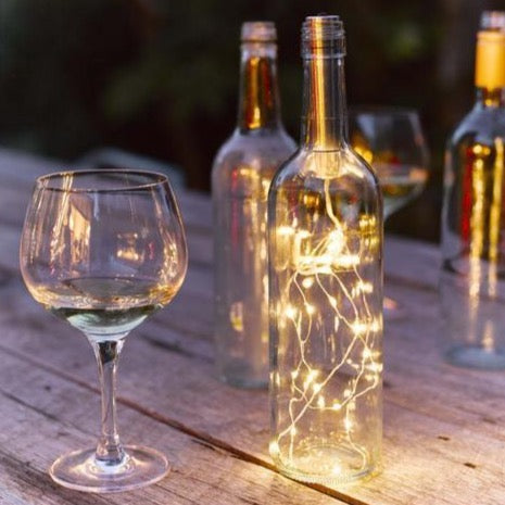 Bottle lights outdoors