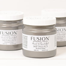 Load image into Gallery viewer, Fusion Mineral Paint Metallic Brushed Steel 250ml - La Di Da Interiors